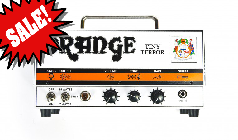 Tiny Terror 15-Watt Tube Amplifier Head (DEMO) Reg.  $769 Often imitated, but never equalled, the iconic Tiny Terror quite literally turned the guitar world upside down upon its launch.  Heralded by Guitarist Magazine as `the most important guitar product in the last 30 years`, Tiny Terror ownership now stretches to well over 30`000 players worldwide.  This is the original `lunchbox` amp head, and continues to set the standard by which all other low wattage valve amplifiers must be judged.<br><br>Combining ultra-portability with an outstanding array of valve tones, Tiny Terror head delivers an exceptional range of British valve tones made possible by a single channel with just three controls.  A unique preamp section and gain structure goes from clean/bluesy crunch to Punk and Classic Rock, all controllable by your guitar`s volume knob.<br><br>The intuitive tone circuit acts as a roll off for the upper frequencies whilst always retaining the character of the instrument, even when driving the amp to its absolute limits.  Whilst the philosophy behind the Terror series began with the gigging musician on the move, their huge sonic range, supreme usability and switchable output options has made them the `go-to` amps for studio engineers and producers alike.<br><br>FEATURES & SPECS<br>Features<br>	<br>*All valve<br>*1.5mm Zintec chassis with vented steel top case<br>*Padded gig bag.<br><br>Controls<br>*Volume, Tone, Gain<br><br>Output Power<br>*7 & 15 Watts<br><br>Valves<br>*Power amp: 2 xEL84<br>*Preamp: 2 x Ecc83/12ax7<br><br>Speaker Output options<br>*1 x 16 Ohm cabinet connected to the 16 Ohm output<br>*1 x 8 Ohm cabinet connected to one of the 8 Ohm outputs<br>*2 x 16 Ohm cabinets each connected to one of the 8 Ohm outputs<br><br>Unboxed Dimensions<br>H (cm) 19<br>H (in) 7.48<br>	<br>W (cm) 30.3<br>W (in) 11.93<br>	<br>D (cm) 15.3<br>D (in) 6.02<br><br>Unboxed Weight<br>5.5 KG<br>12.24 lb