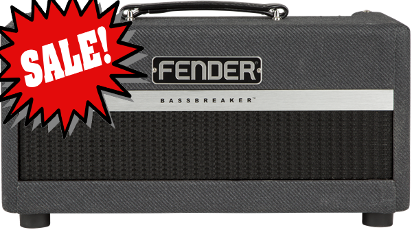 Bassbreaker 15 Head *DEMO* reg.  $799.99 Supercharged with a plethora of flexible features, the Bassbreaker 15 is a top-notch performer for stage or studio.  This chameleon-like amp creates its magic with a trio of 12AX7 preamp tubes feeding into two EL84 power tubes for 15 watts of tight, modern tone.  The all-new three-position Gain Structure switch gives the amp three distinct `boutique` voices, ranging from mild to wild.  They`re all tasty and touch-sensitive without masking the character of the guitar.<br><br>Recording-friendly features such as XLR line output with switchable speaker emulation and Power Amp Mute make it easy to lose yourself in the moment without getting bogged down by the details.  A level-adjustable digital hall reverb adds just the right amount of ambience.<br><br>The handsome new Bassbreaker cosmetic treatment includes dark gray lacquered tweed, oversized pointer knobs, Fender `block` logo, and more.  With great looks, tone, and features, the Bassbreaker 15 is destined to become a go-to amp for rehearsals, gigging and recording.<br><br>Features:<br><br> *15 watts from two EL84 tubes for aggressive midrange character<br> *Gain Structure switch for three distinct tonal flavors and overdrive levels<br> *Recording-friendly Power Amp Mute, switchable speaker-emulated XLR line output and ground lift<br> *Single 12` 8-ohm Celestion V-Type speaker (combo only)<br> *Combo and head mate perfectly with BB-112 extension speaker cabinet<br><br>General<br>Model Name: Bassbreaker&trade; 15 Head, 120V<br>Model Number: 2263000000<br>Series: Bassbreaker<br>Amplifier Type: Class A/B<br>Color: Gray Tweed<br><br>Electronics<br>Controls: Bright, Gain, Structure, Bass, Middle, Treble, Master, Reverb<br>Inputs: One - 1/4&#34;<br>Line Out: One - (XLR with Ground Lift)<br>Channels: One - (with Selectable Amp Voice)<br>Rectifier: Solid State<br>Voltage: 120V<br>Wattage: 15 Watts<br><br>Hardware<br>Cabinet Material: 7-ply 3/4&#34; particle board<br>Handle: Black Leather Handle<br>Front Panel: Black<br>Effects: Reverb<br>Control Knobs: Black Plastic<br><br>Tubes<br>Pre Amp Tubes: 3 x 12AX7<br>Power Tubes: 2 x EL84<br><br>Miscellaneous<br>Included Accessories: Optional cover (p/n 7707954000) available<br><br>Accessories<br>FootSwitch: NA<br><br>*only one available, SN M1666129