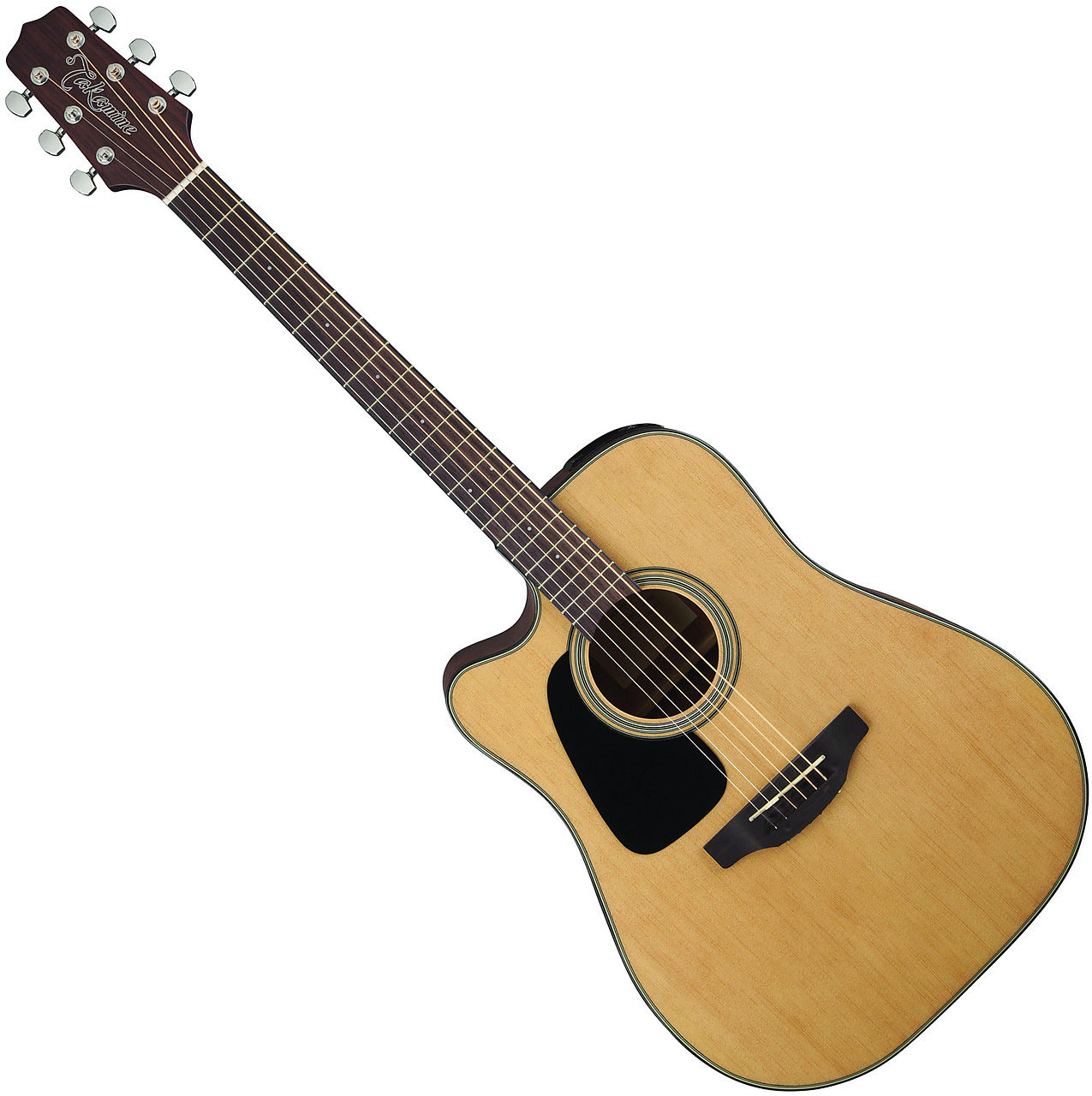 GD10CE-LH Left-Handed Acoustic/Electric Guitar The GD10CE is a great-looking acoustic/electric dreadnought guitar that provides big acoustic sound and performance features such as a Venetian-style cutaway and Takamine electronics system.<br><br>An excellent choice for any player seeking an affordable acoustic/electric guitar that performs well above its price tag, the GD10CE features a select spruce top and mahogany back and sides for a full and balanced sound.  The slim satin-finish mahogany neck and 12`-radius rosewood fingerboard provide great feel and playability, while the onboard Takamine TP-4T preamp system gives you a built-in tuner with volume and tone controls and a mid-cut switch for excellent amplified performance.<br><br>Other great features include a pin-less rosewood bridge for easy string changes, synthetic bone nut and bridge saddle, rosewood headcap, pearloid dot inlays, chrome die-cast tuners and an elegant Natural satin finish.<br><br>Specifications<br>Top: Spruce<br>Back: Mahogany<br>Sides: Mahogany<br>Neck: Mahogany<br>Finger Board: Rosewood<br>Nut Width: 1.6875&#34; (42.8 mm)<br>Electronics: Takamine TP-4T Preamp with Built-In Tuner<br>Finish: Natural<br><br>
