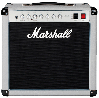 2525C Mini Jubilee All-Tube Amplifier Combo From sparkling cleans to the heavy grit of distortion the 2525CTM brings you the classic tones of 1987 in a portable style.  The 25w 1x12` combo has one Celestion G12 M25 speaker that is not to be underestimated.  With two footswitchable channels and the ability to add extra distortion the 2525C delivers the same grunt and crunch that you see in the Silver Jubilee series.<br><br>Suitable for small venues, in the studio and rehearsing.  This can be taken one step further and using the power reduction feature from 20w to 5w you can still play in your bedroom.<br><br>You can switch with ease between two channels, anything from a clean, shimmering tone to a dirty, overdrive allowing you to mix between classic rock and metal tones.<br><br>Dial in extra grit and distortion to your sound by using the pull rhythm clip.<br><br><br>2525C Mini Jubilee<br><br>From sparkling cleans to the heavy grit of distortion the 2525CTM brings you the classic tones of 1987 in a portable style.  The 25w 1x12` combo has one Celestion G12 M25 speaker that is not to be underestimated.  With two footswitchable channels and the ability to add extra distortion the 2525C delivers the same grunt and crunch that you see in the Silver Jubilee series.<br><br>Previous<br>Next<br>Key Features<br>Practice, perform.<br><br>Suitable for small venues, in the studio and rehearsing.  This can be taken one step further and using the power reduction feature from 20w to 5w you can still play in your bedroom.<br>Expression of aggression<br><br>Dial in extra grit and distortion to your sound by using the pull rhythm clip.<br>Mix your sound<br><br>You can switch with ease between two channels, anything from a clean, shimmering tone to a dirty, overdrive allowing you to mix between classic rock and metal tones.<br><br>Technical Specifications<br>-Model: 2525C<br>-Range: Mini Jubilee<br>-Technology: Valve<br>-Channels: 2 (Split)<br><br>Electronics<br>-Output wattage: 20w (with power reduction option, 5W)<br><br>Outputs<br>-Speaker outputs: 5 x 1/4&#34; jack sockets (16 ohm load / 8 ohm load / 4 ohm load), DI (1/4&#34; instrument jack)<br><br>-Inputs: 1 x 1/4&#34; instrument input jack, footswitch<br>-Controls: Input gain, lead master volume, output master volume, treble, middle, bass, presence<br>-Effects: None<br>-Effects loop: Yes, Send/Return<br><br>Speakers<br>-Speaker configuration: 1x12&#34;<br>-Speaker model: Celestion G12M-25 (16 ohm, 25w)<br>-Unit impedance: 16 ohm<br><br>Valves<br>-Preamp valves: 2 x ECC83, 1 x ECC83<br>-Power amp valves: 2 x EL34<br><br>Accessories<br>-Footswitch: PEDL-90003 included<br>-Cable: Detachable power cable included<br><br>Dimensions (including feet and handle)<br>-Weight: 19 kg / 42 lbs<br>-Width: 490 mm / 19.3&#34;<br>-Height: 475 mm / 18.7&#34;<br>-Depth: 280 mm / 11&#34;<br>