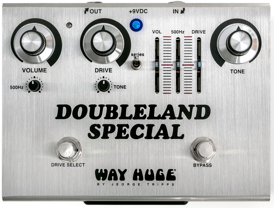 WHE212 Overrated Special OD - designed just for Joe Bonamassa The Doubleland Special Overdrive takes the bold and punchy Overrated Special OD-designed just for Joe Bonamassa-and doubles it up in a single housing with the option to run them Series mode for overdrive-into-overdrive magic.<br><br>The Long Story.<br>The Doubleland Special Overdrive takes the bold and punchy Overrated Special OD-designed just for Joe Bonamassa-and doubles it up in a single housing.  Joe uses one side for humbuckers and the other side for single coils.<br><br>If you`re feeling particularly frisky, you can run both channels at the same time in Series mode by flipping the Series switch.  The controls for each side work just like they do on the Overrated Special OD.  The 500Hz control lets you punch up the low mids for tasty, groovy licks, with the Volume control setting pedal output, the Tone control shaping its sound, and the Drive control setting the overdrive intensity.  The right-side circuit has sliders for the Volume, 500Hz, and Drive controls so that Joe can set them and forget them and focus on the Tone control, which he adjusts during sets.<br><br>The Doubleland Special Overdrive is limited to 1,000 units worldwide, serial numbered and signed by Joe himself, and it comes with a custom Pick Tin featuring 25th Anniversary Way Huge Picks and Joe`s custom silver Jazz III Picks.<br><br>