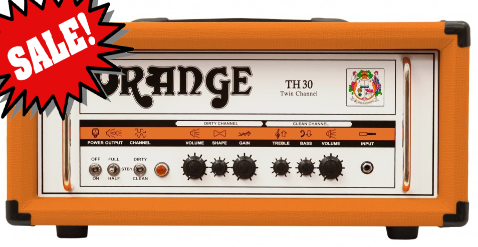 TH30 All-Tube Amplifier Head (DEMO) Reg.  $1499 Orange`s newest guitar amp head is both the cleanest and the highest gain amp Orange has ever made.  Go from sparkling Fender-like tones to metal and beyond with the twist of only 3 knobs per channel.<br><br>The TH30`s Clean Channel features a Gain, Shape and Master Volume.  The shape control is an EQ control facilitating a variety of tones from classic rock through to scooped metal with all variations in between.<br><br>The power section of the TH30 is powered by a quartet of EL84 output valves and is rated at 30 Watts Class A.  There is also the addition of a valve driven effects loop.<br><br>Controls:<br>*CLEAN CHANNEL: Volume, Bass, Treble<br>*DIRTY CHANNEL: Volume, Shape, Gain<br>*Half-power switch on front<br>*2 or 4 power tube switch on rear<br>*FX Loop<br><br>Output:<br>*Class A Switchable between 30, 15 and 7 watts<br><br>Valves:<br>*Preamp = 4 x ECC83, Output = 4 x EL84, Effects Loop = 1 x ECC81<br><br>Speaker Out:<br>*(1) 16 Ohm, (2) 8 Ohm<br><br>Dimensions:<br>*(W X H X D) 55x24x24cm, 21.6�5�5in<br><br>Weight:<br>*15kg/33lb