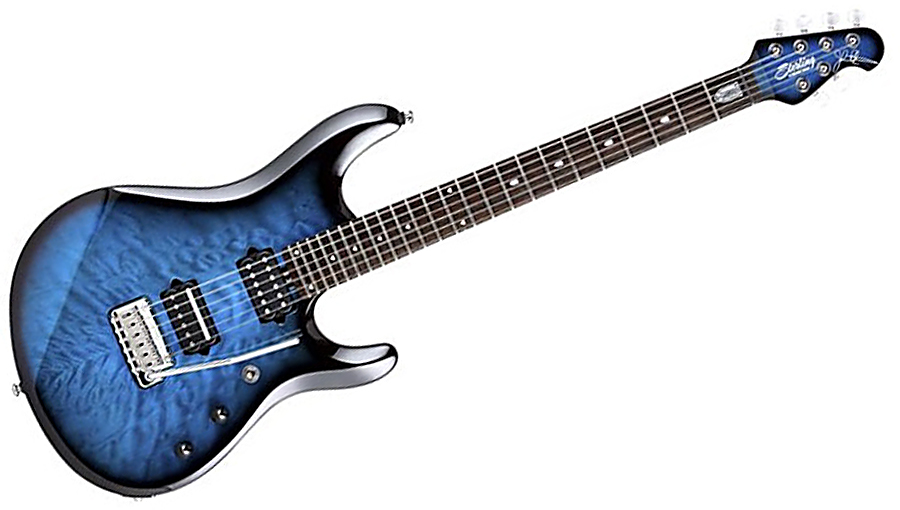 JP100D John Petrucci Signature in Pacific Blue Burst *Blowout* Based on the `Ball Family Reserve` Model JP6.  The slightly larger body is capped with a highly figured, quilted maple top, and is available in three exquisite `burst finishes for 2014.<br><br>By popular demand, JP100 now comes factory-equipped with John`s personal favorite: Made In U.S.A DiMarzio LiquiFire and Crunch Lab pickups!<br><br>LiquiFire&trade;<br>A neck pickup with a flowing, singing solo tone when used with a heavily overdriven amp and a clear chord sound with a clean amp setting.<br><br>Crunch Lab<br>The name says it all - `crunch` is what it`s all about with a big, tight sound that`s neither muddy nor thin.<br><br>Scale: 25.5`<br>Nut Width: 42mm<br>Neck Width, 12th fret: 52mm<br>Body Wood: Basswood<br>Neck Wood: Maple<br>Fretboard Wood: Rosewood<br>Tuning Machines: Locking<br><br>Hardware: Chrome<br>Neck Joint: 5 Bolt<br>Frets: 24<br>Fretboard Radius: 16`<br>Pickup Selector: 3 Way<br>Pickups: H/H, DiMarzio Crunch Lab and Liqui-Fire<br>Bridge: Modern Tremolo<br><br>Gig bag included.<br><br>**regular price is $1314<br>**this guitar is a display model and is our last one in stock